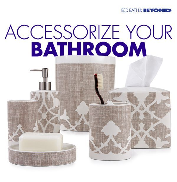Bed Bath   Beyond  Beautifully matching  cohesive ensembles add the  prettiest details to your bathroom  Shop wastebaskets. 101 best Home D cor images on Pinterest   Home d cor  Accent rugs