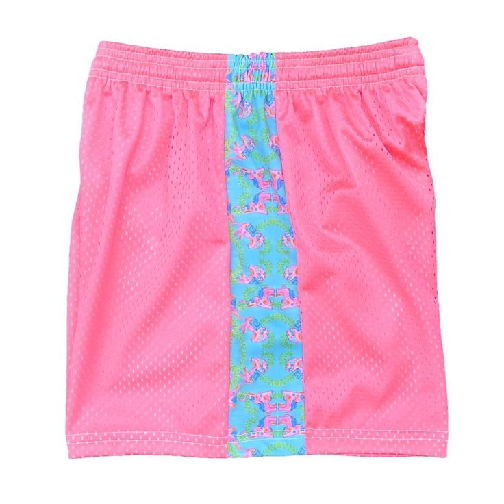 #LacrosseUnlimited Girls Mesh Shorts In Pink/Green # ...