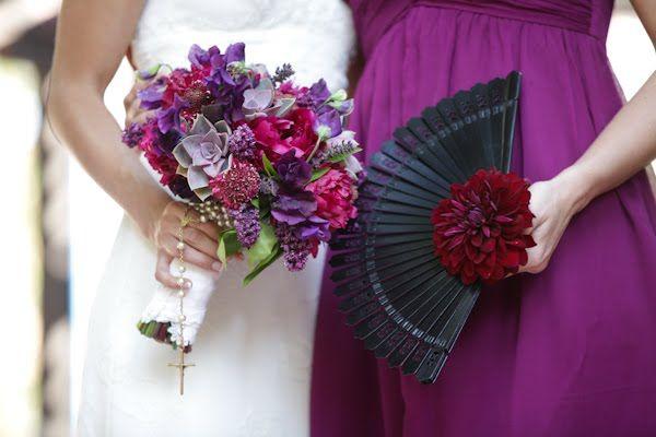 Bouquet great - not a fan of the fan!