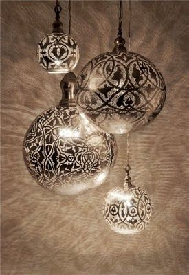 Put lace over a plain ornament and spray- beautiful :)