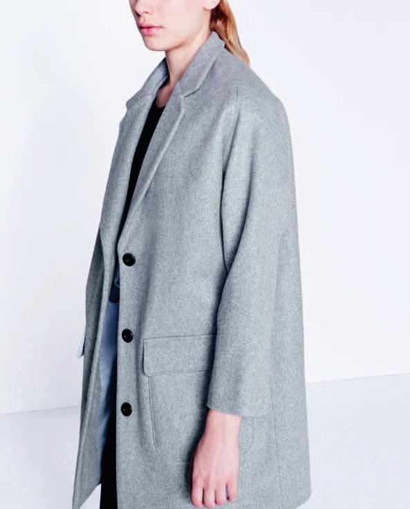 Manteau oversized gris chiné - Sessùn #TBM #LeBonMarche #homme #femme #enfant #maison #men #women #kids #home #fashion #mode #deco #lifestyle