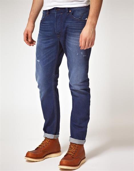 Зауженные брюки для полных парней