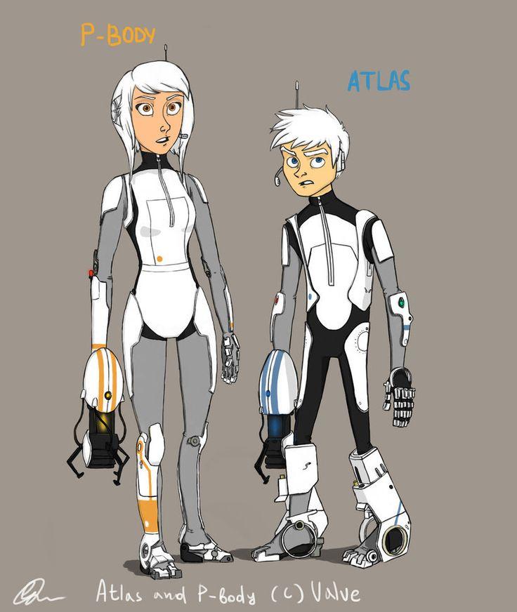 Atlas and P-Body human form by ~LizaTigress Halloween Costume ...