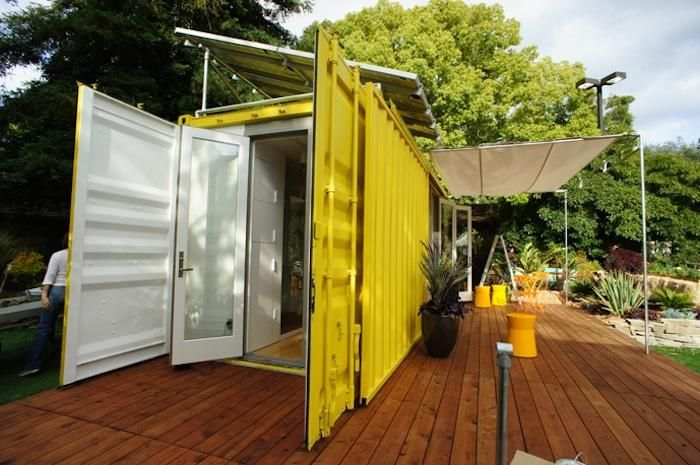 Little Cargo Container in the Big Woods Gardenista-192 sq ft shipping container home