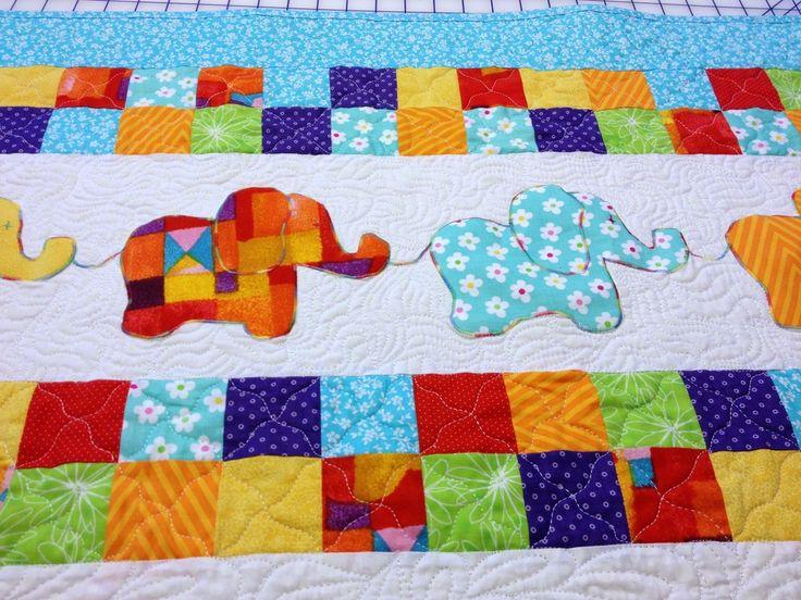 80 best Elephant Quilts ..... images on Pinterest | DIY, African ... : childrens patchwork quilt - Adamdwight.com