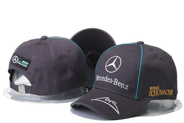 Mens / Womens Unisex Mercedes Benz AMG PETRONAS F1 Michael Schumacher Baseball Adjustable CAP - Charcoal / White