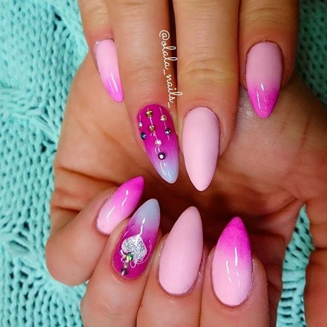 ❤❤❤Serduszkowo-różowe❤❤❤ #paznokcie #polishgirl #mani #girl #pastelove #blogger #paznokciehybrydowe #semilacnails #semigirl #manicure #nailsdesign #pastelnails #nailsdone #nailsgram #instanails #nailsinspiration #wzorkinapaznokcie #manicurehybrydowy #pinknails #hybrydy #ombre #longnails #matowepaznokcie #ногти #ногтики #wroclaw #nägel#hybridnails #inspirac
