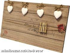 Dekorace,bytové doplňky   Dřevěné skříňky,boxy,police   Dřevěná tabule na vzkazy   Ala Decor - To pravé pro Váš byt,dům i zahradu
