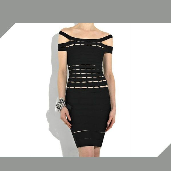 Herve Leger Couture Dress in Black