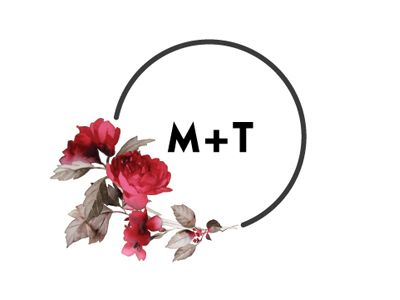 Dribbble - Wedding Logo by Monique - different plant but something like this w/ the circle & our initials