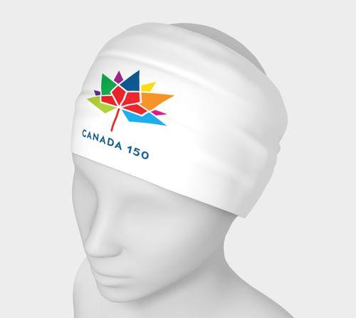 Canada 150 White Headband Small Logo