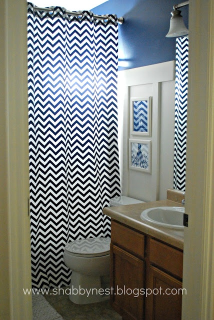Navy and yellow new house pinterest Navy blue and white bathroom