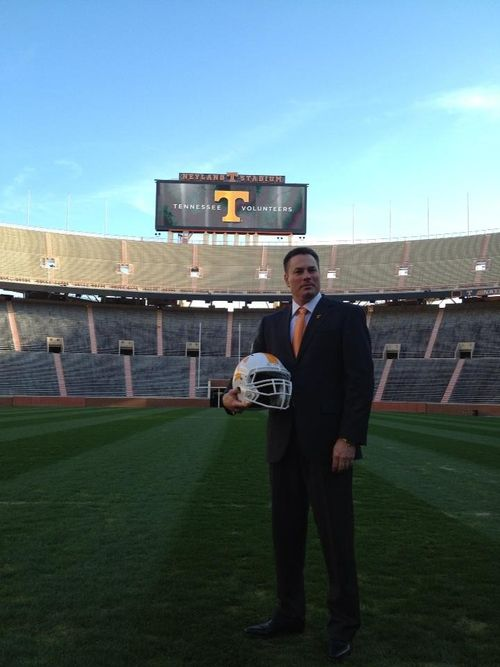 coach jones in neyland i see good things in our future!!