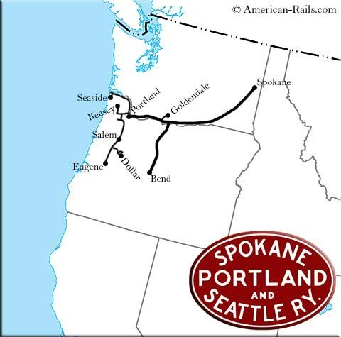The Spokane Portland And Seattle Railway Was Owned By Great Northern And Northern Pacific Giving Them Access To Portland It Was Merged Into Burlington