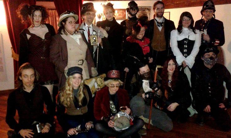 Visitatori Steampunk al Museo del Precinema #museum #collezioneminicizotti #ospiti #steampunk #padova #pratodellavalle