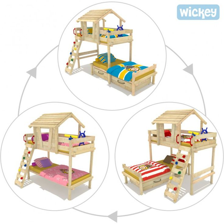 Letto a castello Wickey Sponge House