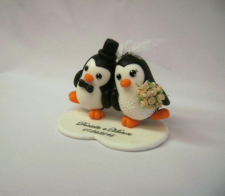 Noivinhos pinguins- topo de bolo