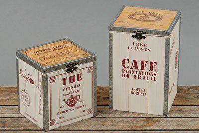 Di legno scatola legno conservazione decorativa Boltze scritta THE tè: Amazon.it: Casa e cucina