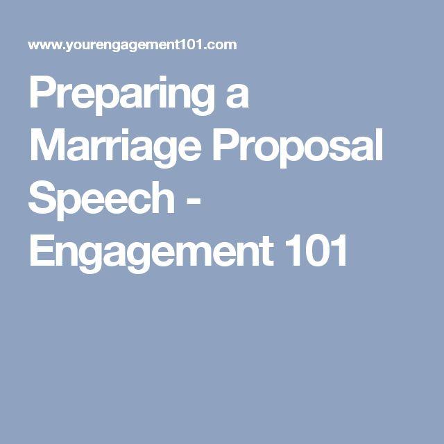 preparing a marriage proposal speech