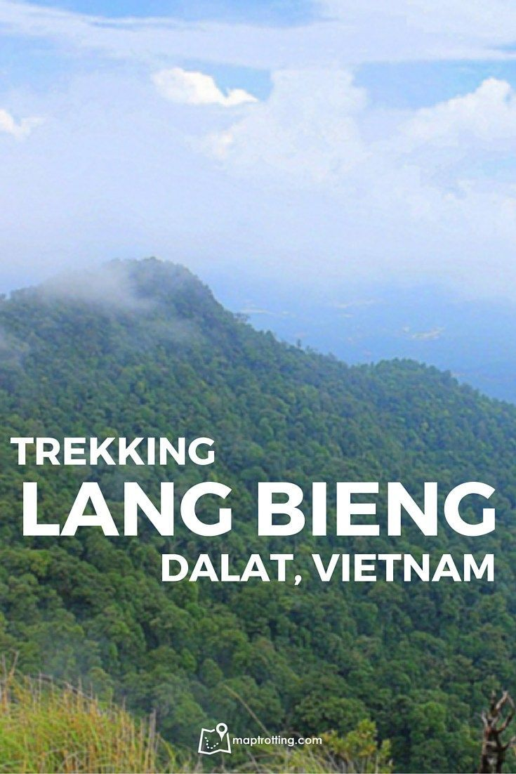 Trekking Lang Bieng, the tallest peak in Da Lat in the central Highlands of Vietnam