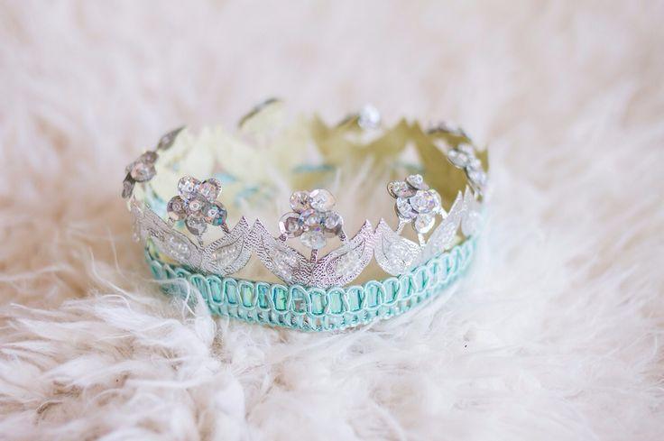 Newborn lace crown