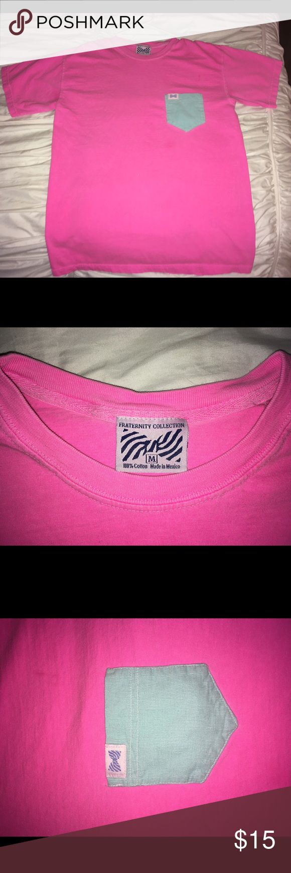 Fraternity Collection T-Shirt Fraternity Collection size M hot pink t-shirt. Super comfortable and only worn 3 times! No stains, ware or tare at all. Fraternity Collection Tops Tees - Short Sleeve