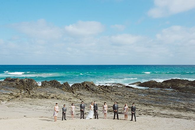 Bridal party on the beach  www.becmatheson.com  #beachwedding #beachweddingphotography #bridalpartybeach