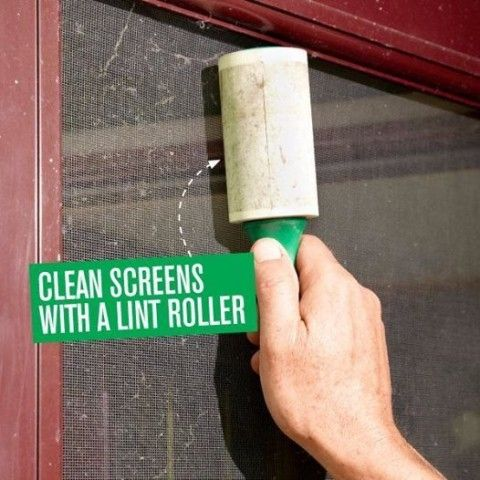 Как почистить сетку на окне? 0