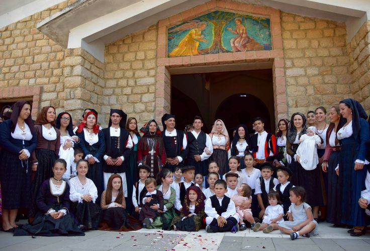 Group photo of Festival in Baunei, Ogliastra, Sardinia