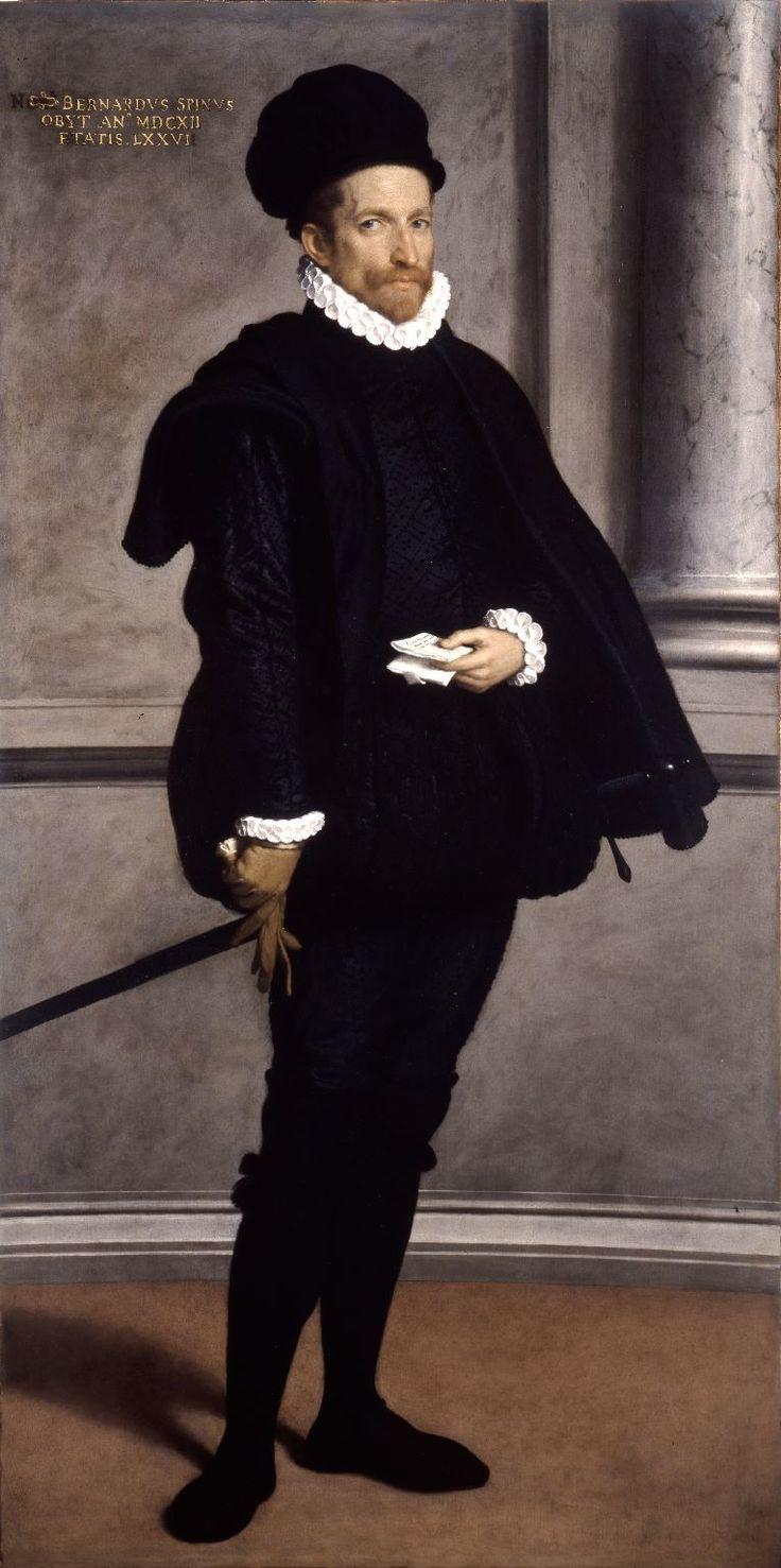 Giovan Battista Moroni,    Ritratto di Bernardo Spini, 1573 circa     oil on canvas