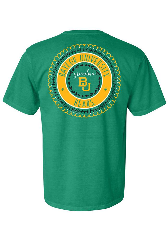 Baylor Bears Womens Green Grandma Spiral Short Sleeve T ...