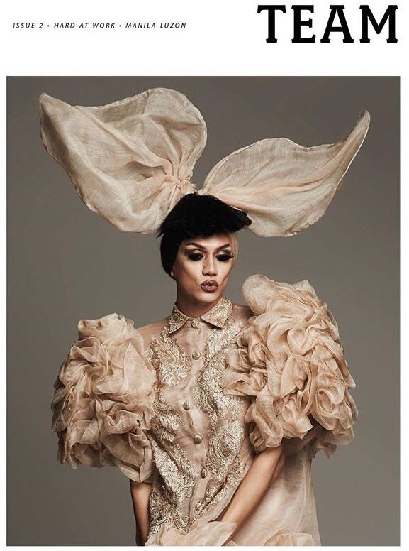 Manila Luzon on the cover of TEAM magazine,the Philippines' first LGBTQ+ magazine; 2015