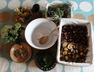 {Fall Sensory Play} Cooking + Nature - Pinned by #PediaStaff.  Visit http://ht.ly/63sNt for all our pediatric therapy pins