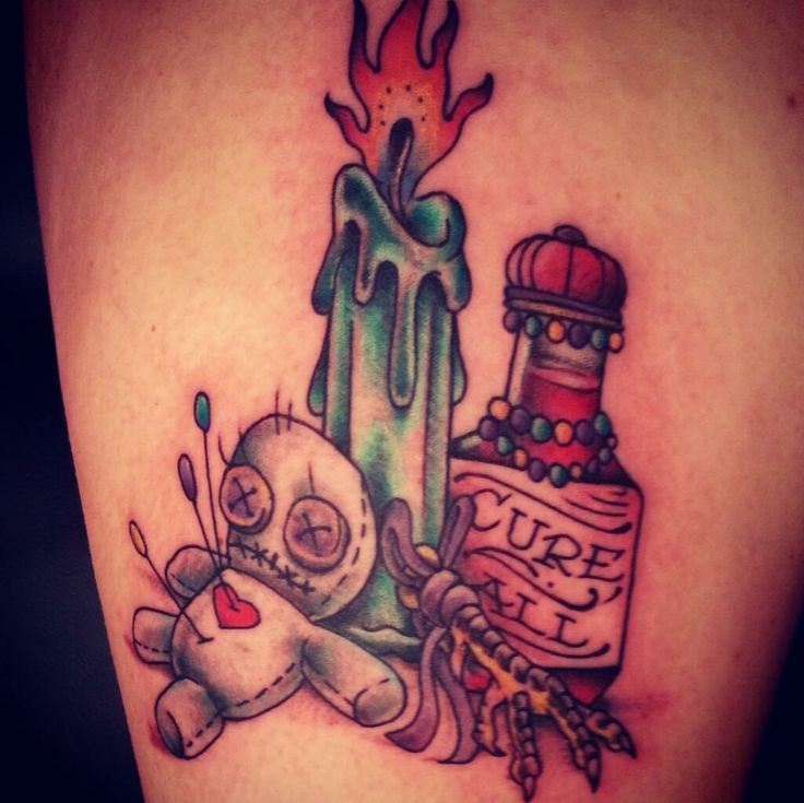 Voo doo tattoo by Matty Runks.  Electric LadyLand, New Orleans