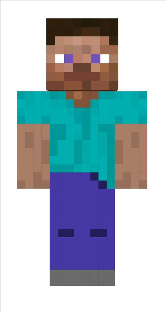 Minecraft Steve FatheadStyle Repositionable by graphicsforless