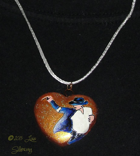 Michael Jackson Golden Heart Black or White Art by LissSilverwing, $18.00