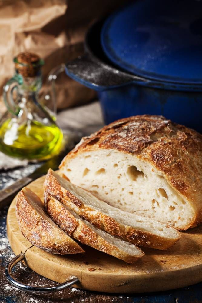 Simple Crusty Bread Recipe Baked In A Cast Iron Pot ...