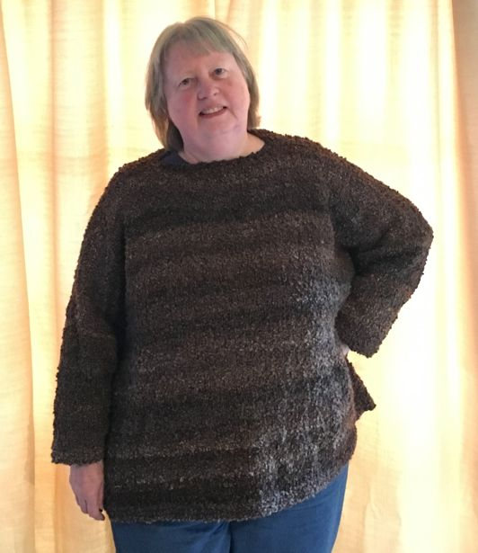 I have completed some projects recently. First, I knitted an oversized sweater in Noro Silk Mountain yarn. I measured some oversized sweaters I bought from the Sarah Duncan store in Bath (sadly no longer there). Based on the tension I obtained switching with this yarn, I used Garment Designer to plan and calculate the stitch …