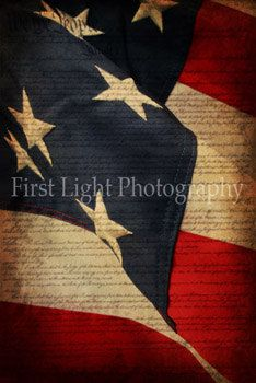 American Flag Canvas Gallery Wrap Large Flag by FirstLightPhoto