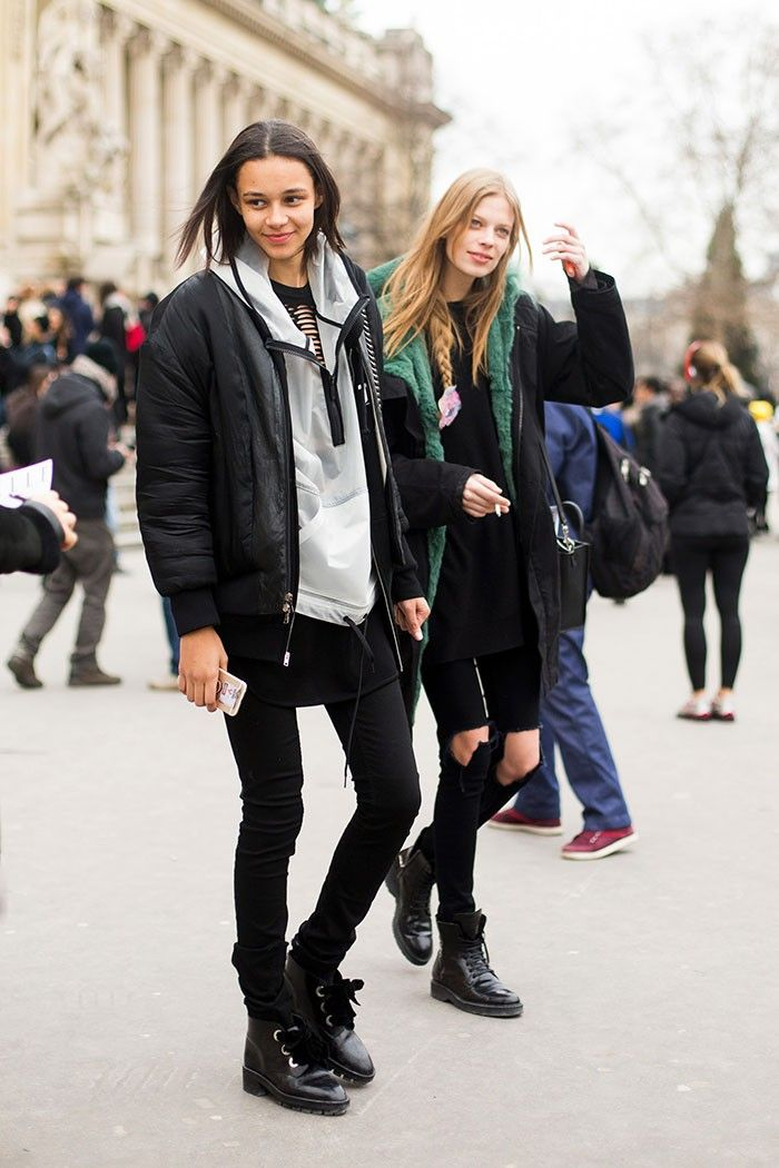 Binx Walton and Lexi Boling #Couture SS 2015 #streetstyle