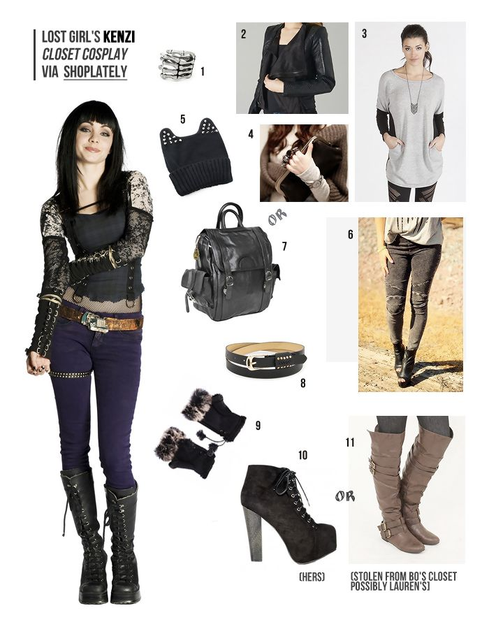 Closet Cosplay Wishlist: Lost Girl's Kenzi via ShopLately · A Classic Notion