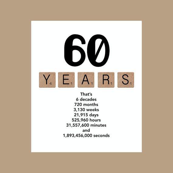 60ste verjaardag Card mijlpaal van DaizyBlueDesigns op Etsy