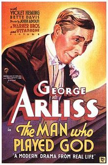 The Man Who Played God is a 1932 American drama film directed by John G. Adolfi. The screenplay by Julien Josephson and Maude T. Howell is based on the 1914 play The Silent Voice by Jules Eckert Goodman, who adapted it from a story by Gouverneur Morris.  Goodman's play previously had been filmed under its original title in 1915 and as The Man Who Played God in 1922. It was adapted for the screen yet again as Sincerely Yours in 1955.