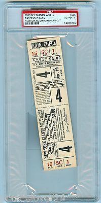 1953 NY GIANTS v PHILLIES APR 19 FULL Unused Authentic Phantom TICKET PSA SLAB