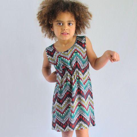 little girls heaven - Tank Dress - zig zag - TD1