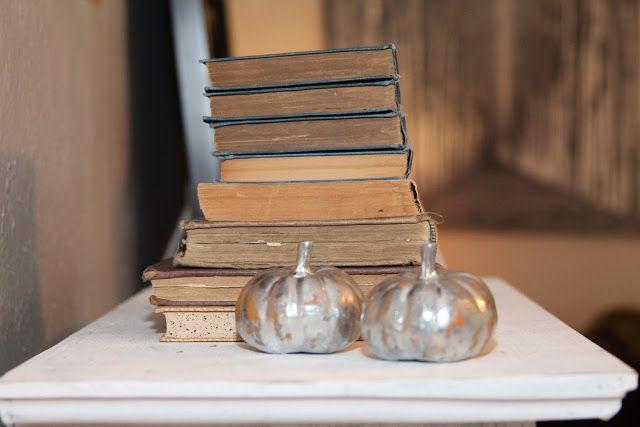 DIY {Pottery Barn Knock-Off}  Copycat Metallic Pumpkins | ReMade Simple