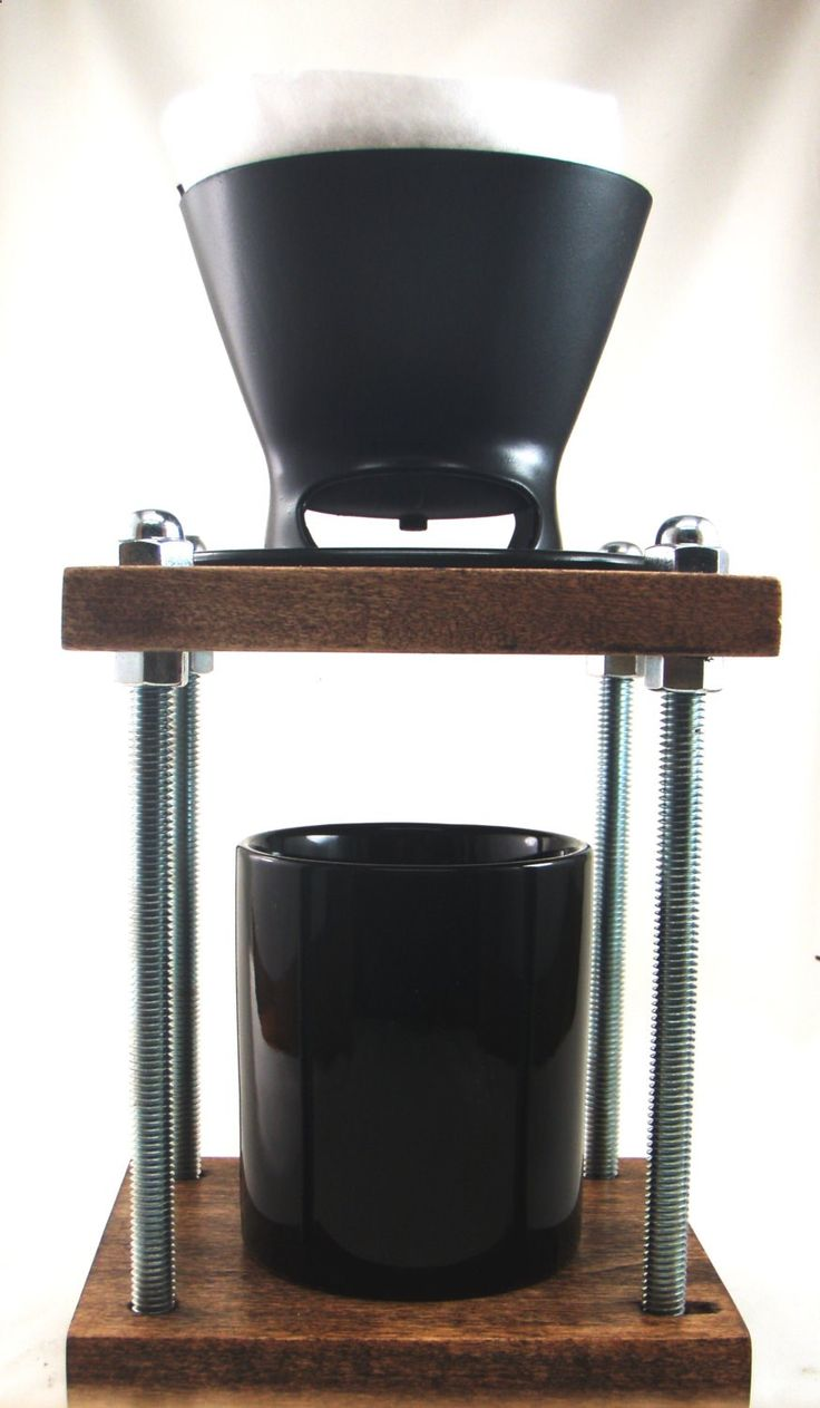 Badass Brew station Pour over coffee maker dripper stand by Whiterabbitwood on Etsy #coffee #pour over #brew #whiterabbitwod #etsy