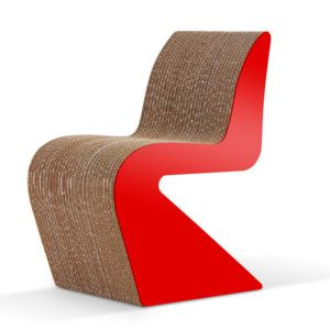 Kartonová židle Amanda Red