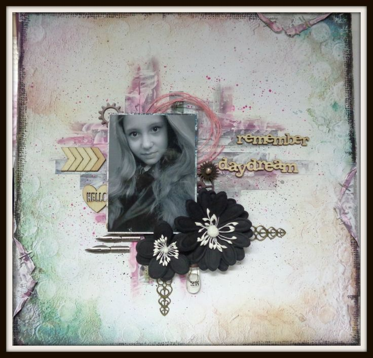 Remember a Daydream, mixed media project Scrapplezier.