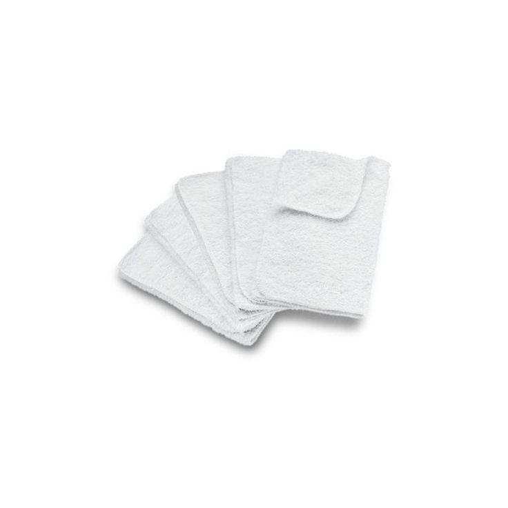 De katoenen vloerdoeken van Kärcher zijn te gebruiken in combinatie met de stoomreinigers en zijn ideaal voor het reinigen van vloeren en harde oppervlakken zoals tegels, marmer, PVC en graniet. Je ontvangt een set van vijf doeken.
